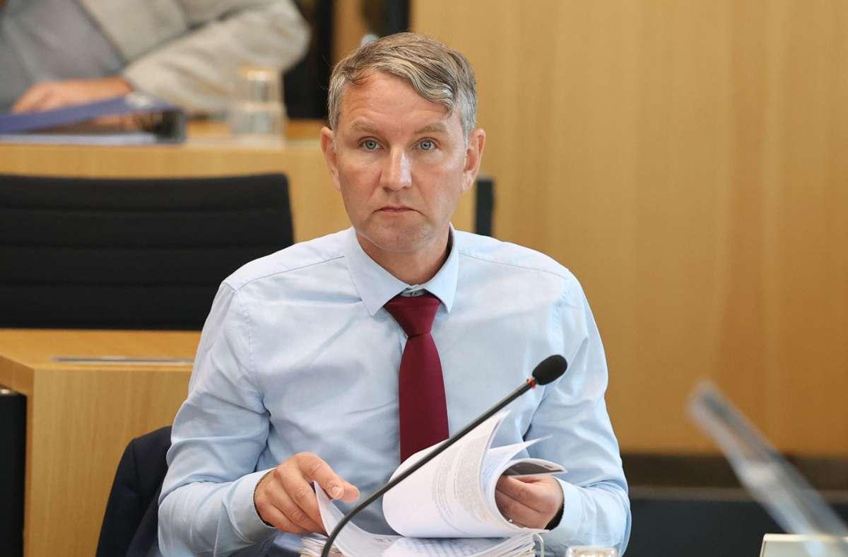 Kein Erfolg für Björn Höcke Foto: dpa/Bodo Schackow