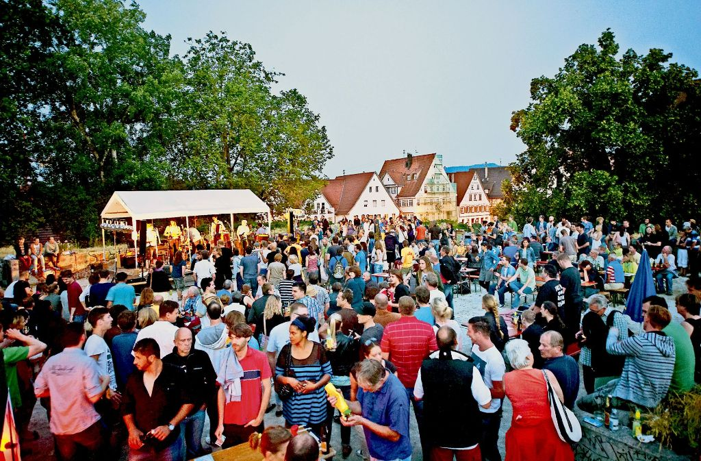 Bei dem lockeren Musikfest Falkstock kommen Freunde des Verstorbenen und andere Gäste zusammen. Foto: Jan Blankenhorn