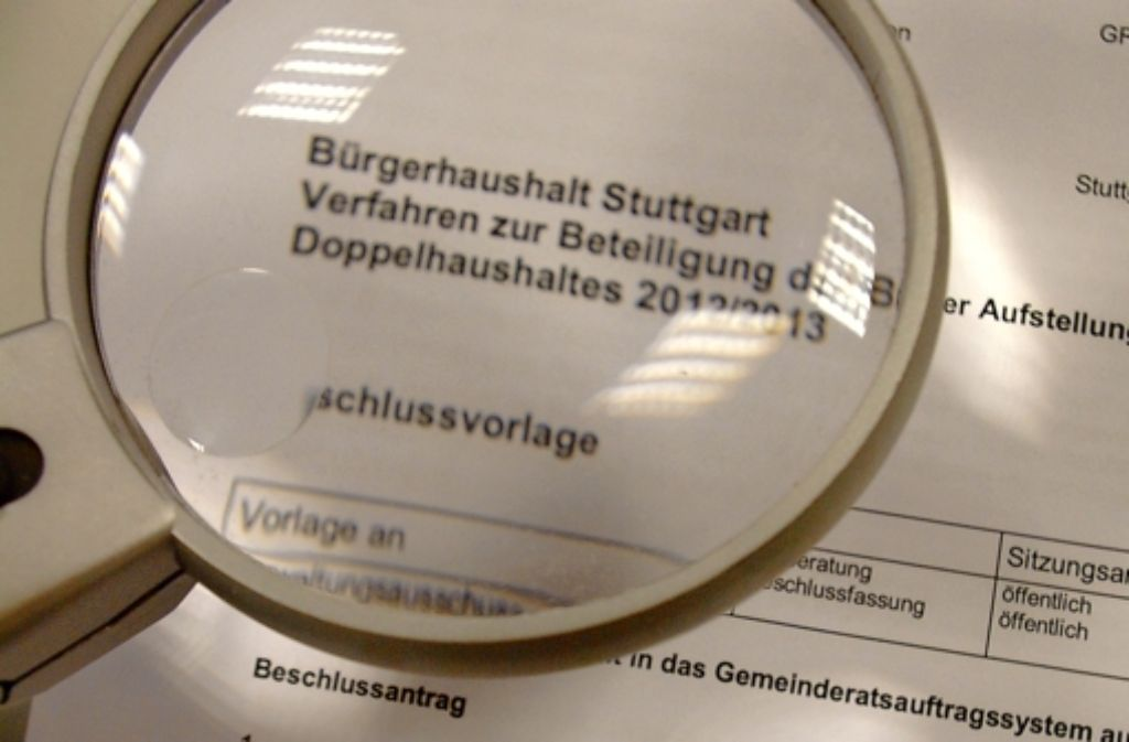 Bereits an den Haushaltsberatungen 2012/20013 sind die Bürger beteiligt worden. Foto: Alexandra Kratz