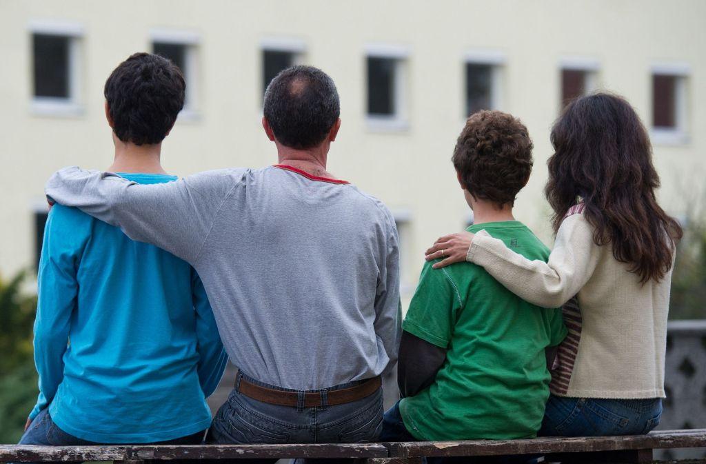 Angekommen in Deutschland: eine Flüchtlingsfamilie aus Syrien Foto: dpa