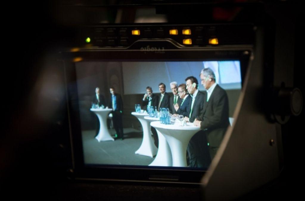 Die StZ-Podiumsdiskussion wurde live ins Internet übertragen, im laufe des Mittwoch gibt es die Veranstaltung dann im Video zum Nachschauen.  Foto: Lichtgut/Achim Zweygarth