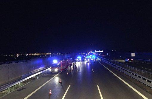 Schwerer Unfall auf der A8 Richtung München