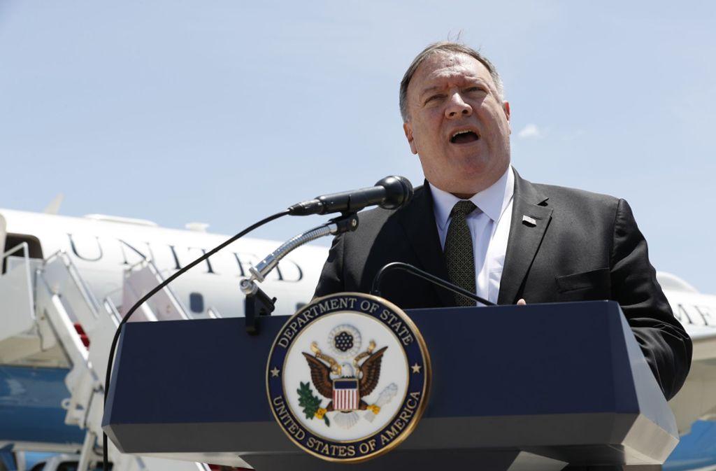 Außenminister Pompeo beschuldigt den Iran. Foto: Jacquelyn Martin/AP POOL/dpa/Jacquelyn Martin