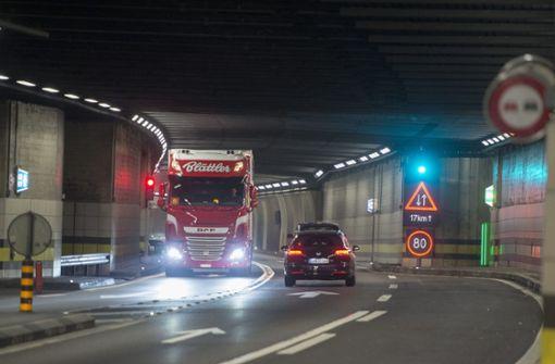 Frontalzusammenstoß  im Gotthard-Tunnel