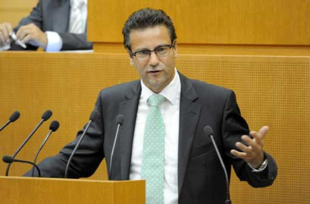 CDU-Fraktionschef Peter Hauk: Wir verschließen uns einer Verfassungsänderung aus tagesaktuellem Grund. Foto: dpa