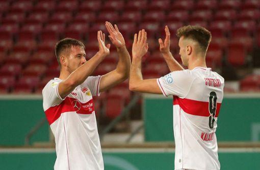 Waldemar Anton und Orel Mangala führen den VfB in die nächste Runde