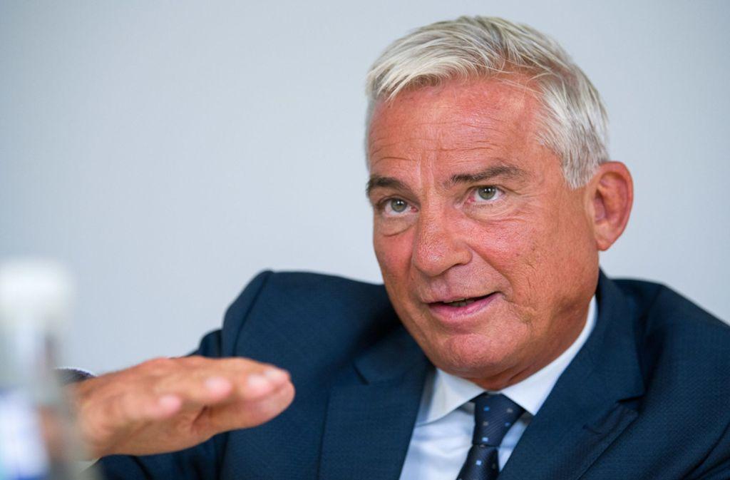 Leitungsstab fast verdoppelt: Innenminister Thomas Strobl, CDU Foto: dpa