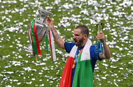 Leonardo Bonucci brüllt Seitenhieb gegen England in die Kamera