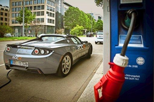 Elektroautos sind in der Region äußerst rar