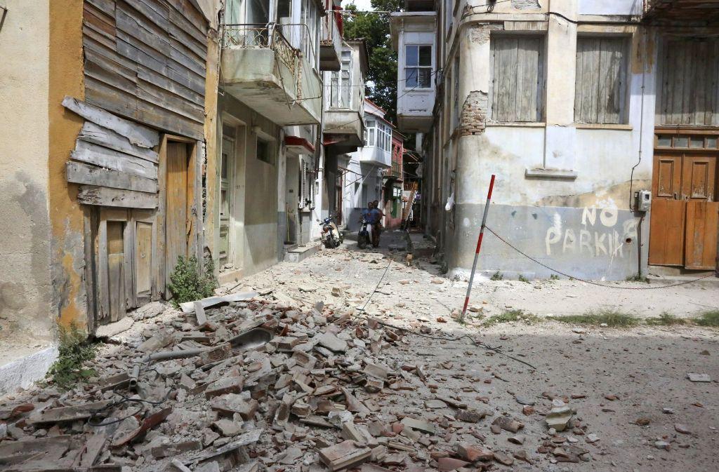 Die türkische Ägäisküste ist von einem Erdbeben erschüttert worden. Betroffen ist auch die griechische Insel Lesbos. Foto: InTime News