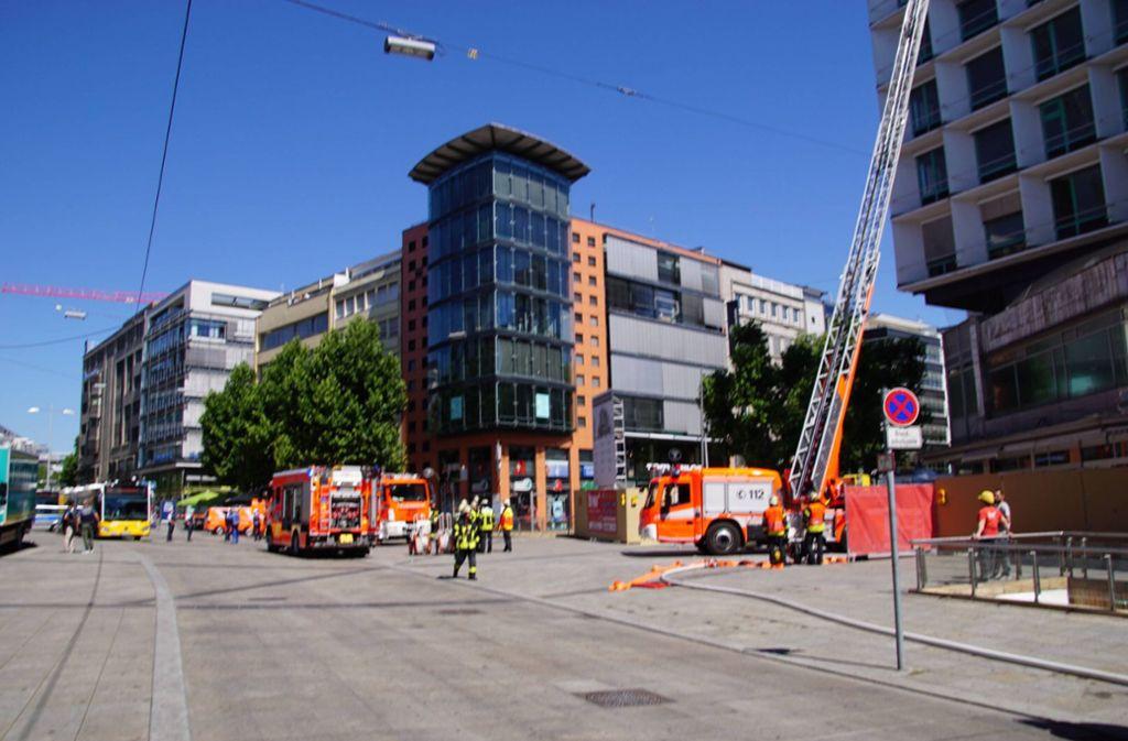 An der Königstraße in Stuttgart-Mitte ist ein Feuer ausgebrochen. Foto: 7aktuell.de