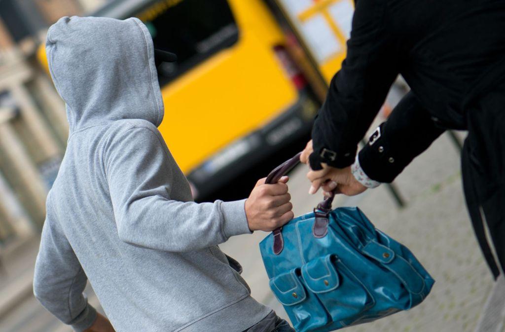 Die Täter flüchteten mit der Handtasche. (Symbolbild) Foto: picture alliance /dpa/Arno Burgi