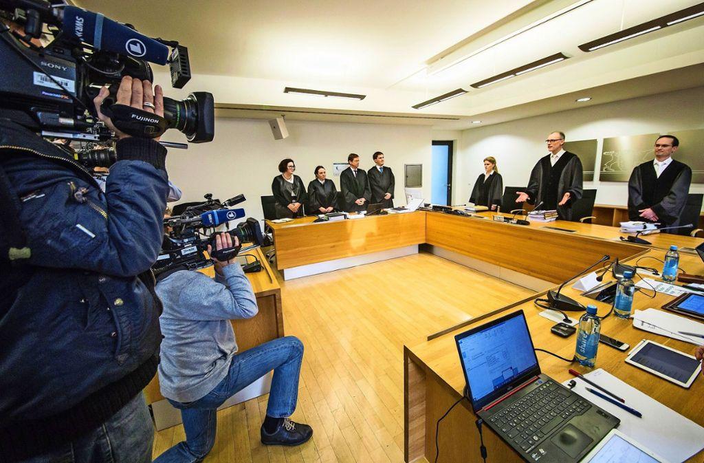 Premiere beim Stuttgarter Oberlandesgericht: Erstmals wird in Deutschland über eine Musterfeststellungsklage verhandelt. Foto: dpa