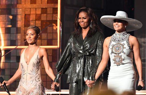 Michelle Obama hat bejubelten Überraschungsauftritt