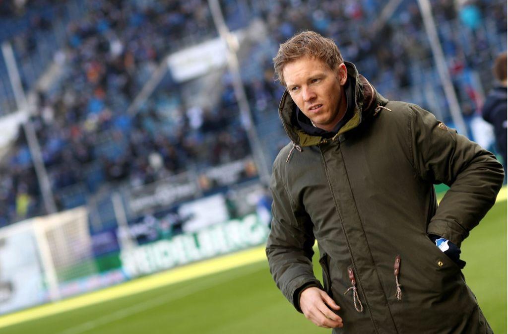 Für Trainer Julian Nagelsmann und die TSG Hoffenheim läuft es nicht rund Foto: