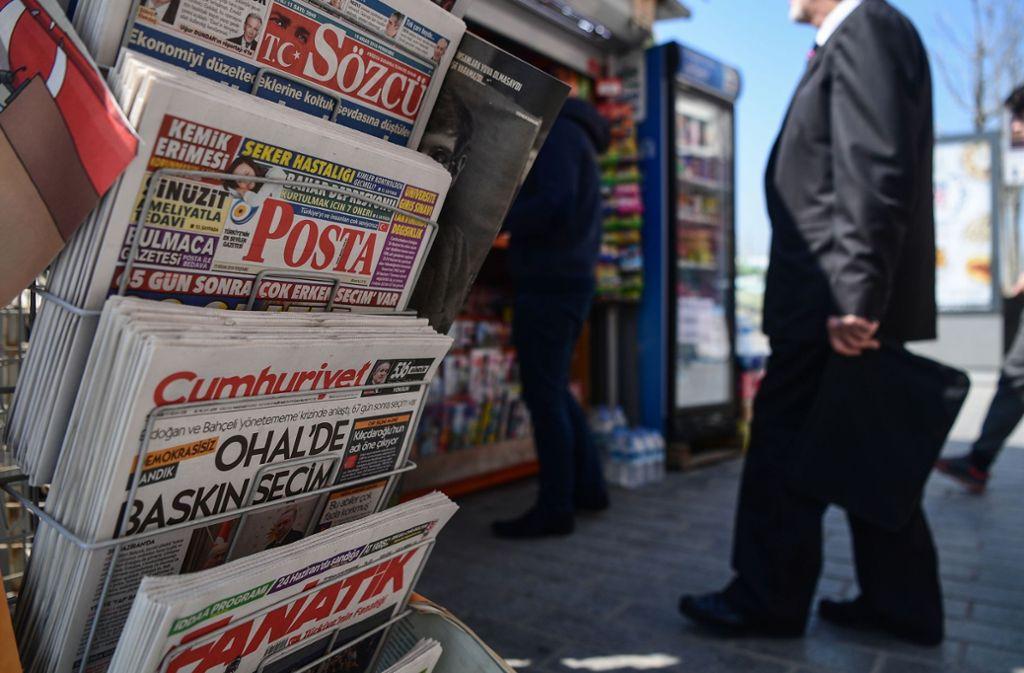 Die Tageszeitung Cumhuriyet gilt als regierungskritisch. Foto: AFP