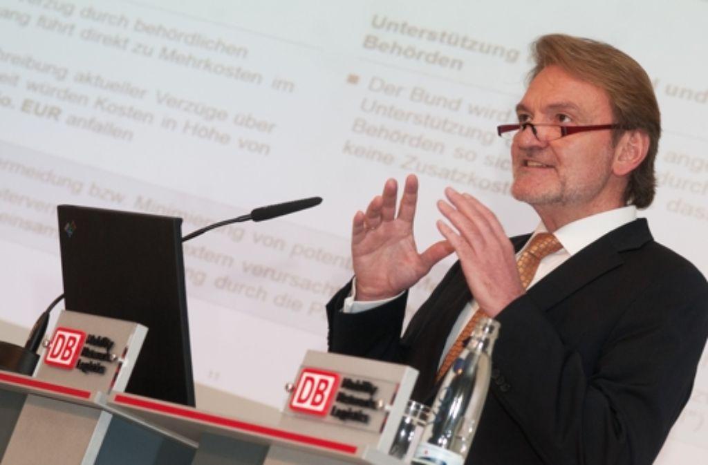DB-Vorstand Volker Kefer geht offenbar auf Distanz zu Stuttgart 21. Foto: dpa