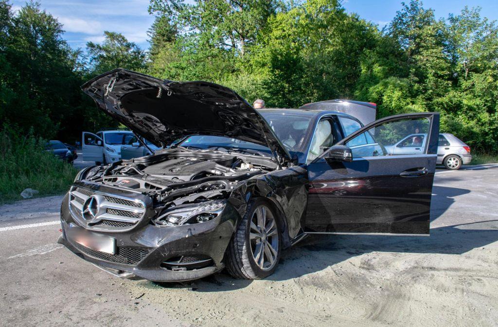 Der Mercedesfahrer wollte ausparken ... Foto: 7aktuell.de/Nils Reeh