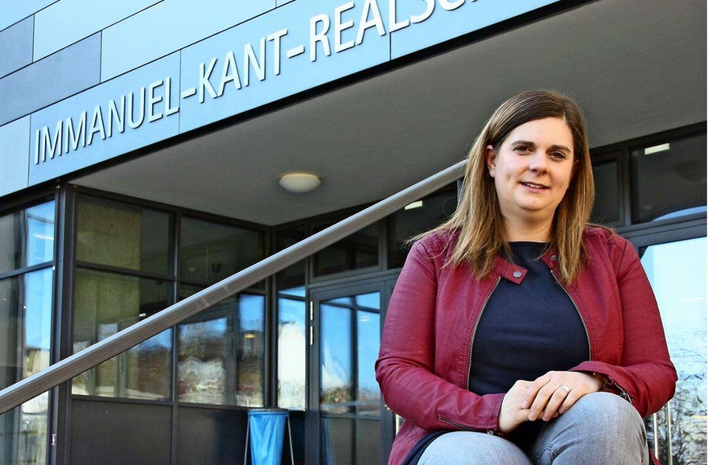 Die Schulsozialarbeiterin Julia Häberle  kümmert sich um die Sorgen und Nöte der  Leinfelder Realschüler. Foto: Natalie Kanter