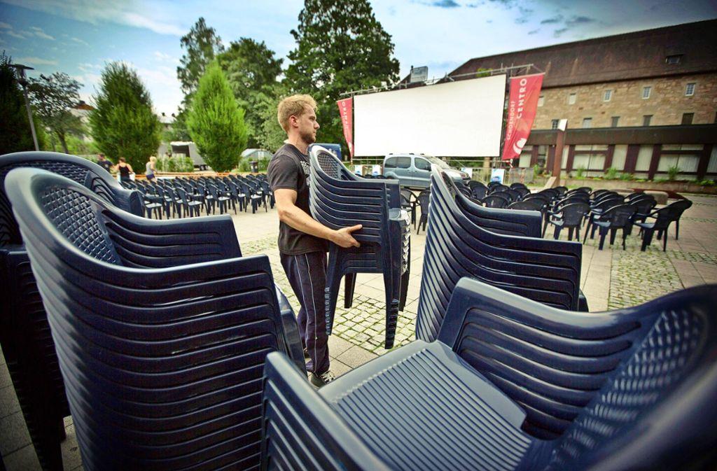 Das Sommerfilmfestival in Schorndorf muss den angestammten Platz vor dem Burgschloss verlassen. Foto: Gottfried Stoppel/Archiv