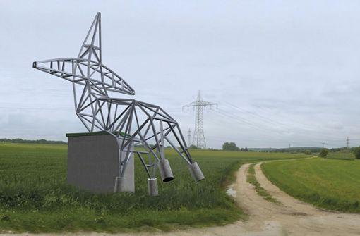Ein Strommast für Fellbach