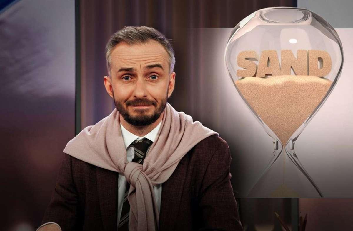 Jan Böhmermann hat Sand zum Thema gemacht: und nicht bloß gescherzt. Foto: ZDF