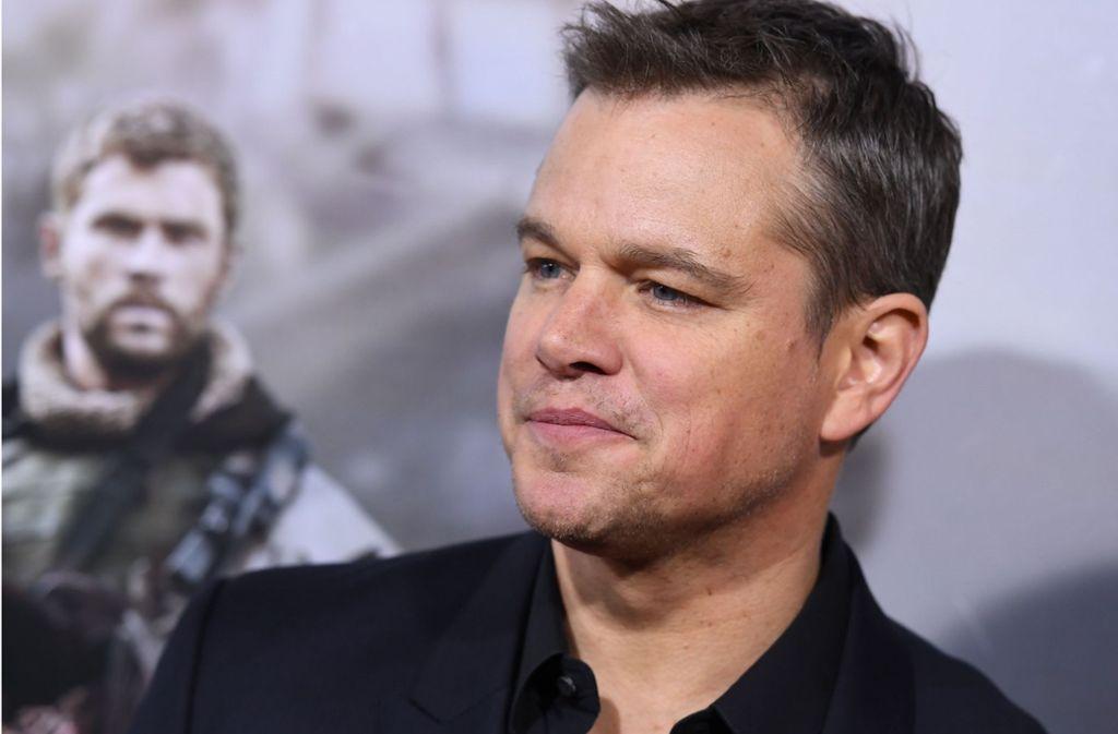 Matt Damon zeigt sich reumütig. Foto: AFP