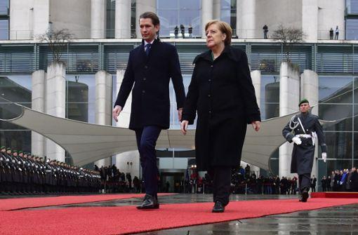 Sebastian Kurz beginnt seinen Antrittsbesuch in Berlin