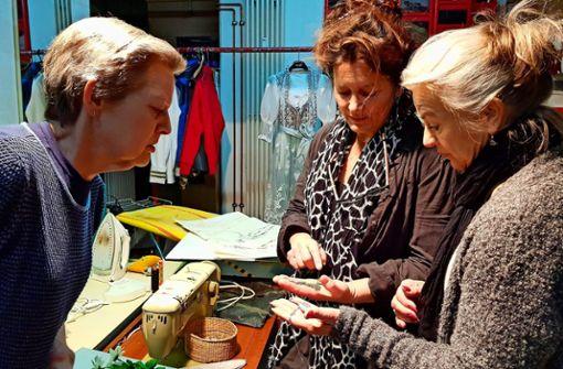 Isabella Winter, Sibylle Schulze und Susanne Heydenreich (von links) im Gespräch.