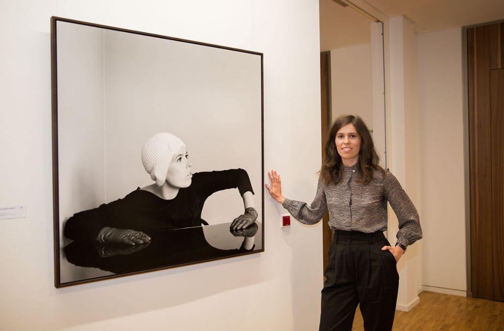 """Ann-Kathrin Müllers leicht verfremdetes Selbstbildnis aus der Arbeit """"Tamerlan""""  hat die Jury überzeugt. Foto: Ines Rudel"""