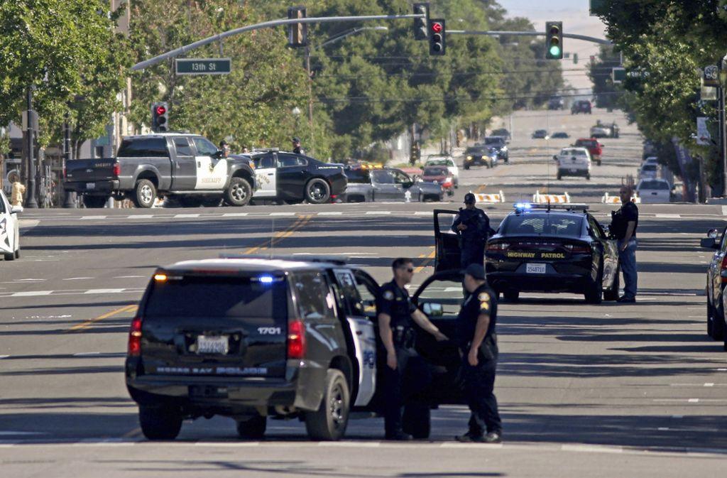 Der Mann wurde bei einem Schusswechsel mit der Polizei getötet. Foto: AP/David Middlecamp