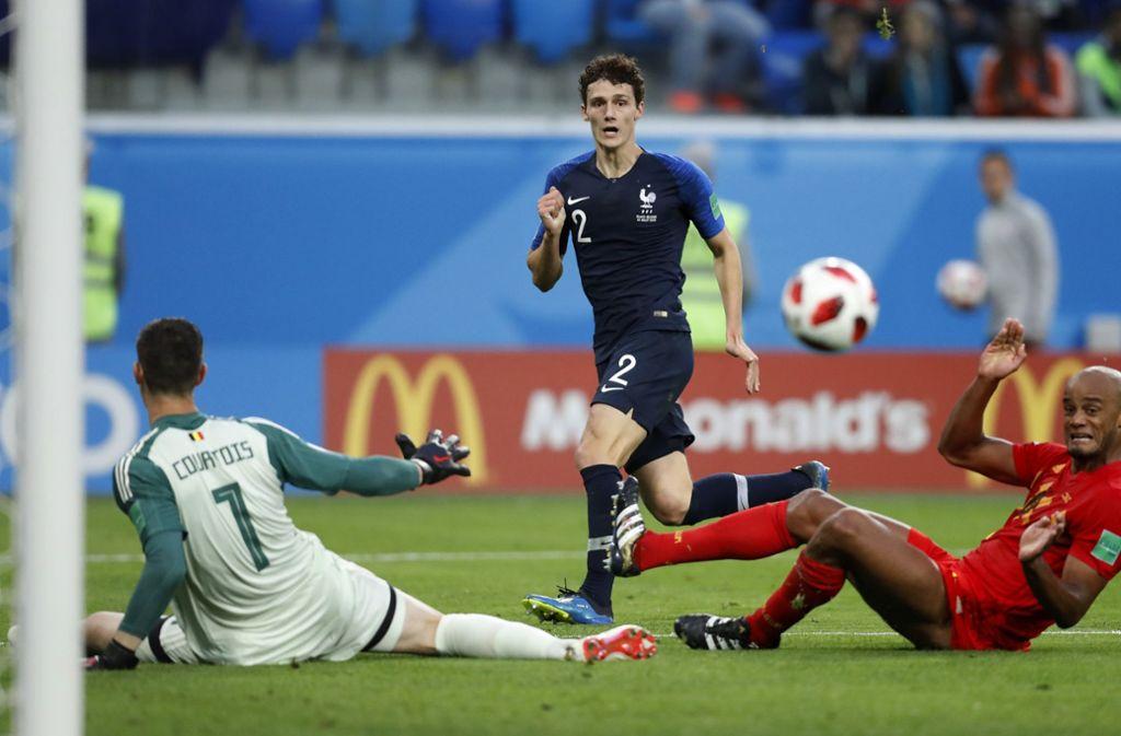 Benjamin Pavard vom VfB Stuttgart vergab im Halbfinale der WM 2018 eine große Chance. Foto: AP