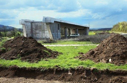 Mit den Bauarbeiten für die Neubaustrecke ist schon begonnen worden. Foto: Horst Rudel