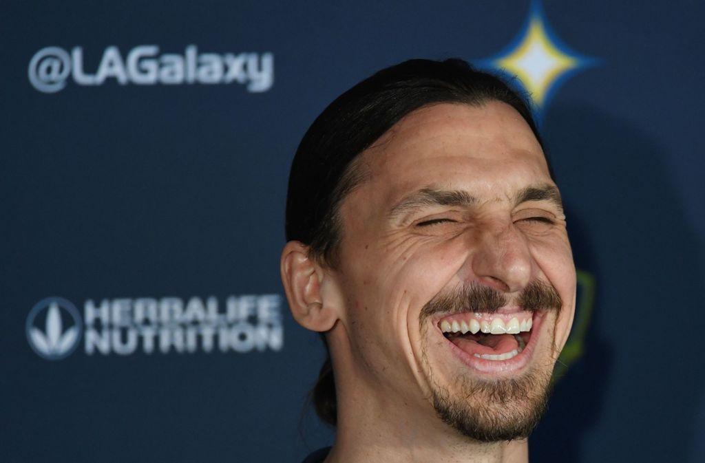 In zwei Spielzeiten für Galaxy gelangen Ibrahimovic 53 Treffern in 58 Partien. Foto: AFP/MARK RALSTON