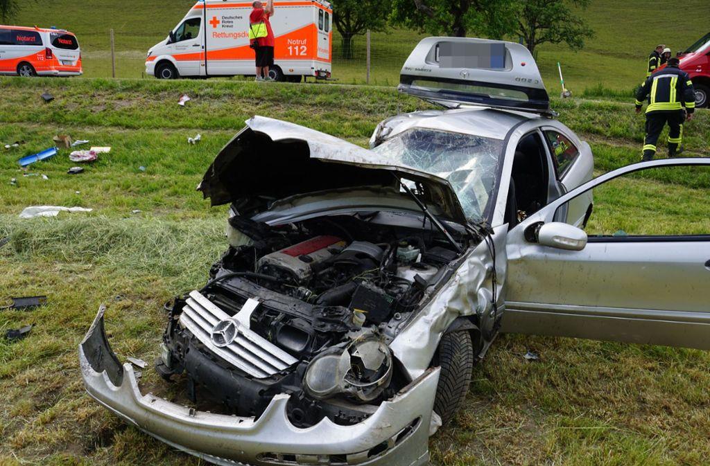 Der Unfall ereignete sich in der Nähe von Gosbach. Foto: SDMG/Woelfl