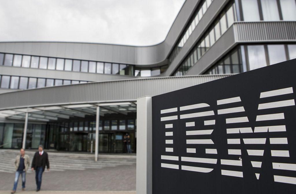 Vor der IBM-Zentrale in Ehningen ist eine Protestaktion geplant. Foto: dpa/Silas Stein