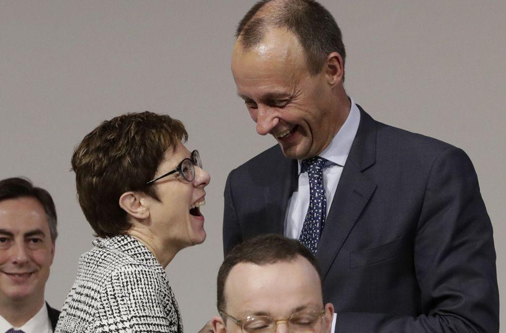 Die Wahl um den CDU-Vorsitz entscheidet sich zwischen Annegret Kramp-Karrenbauer und Friedrich Merz. Foto: AP