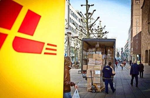 Paketdienst mit Lastenrädern