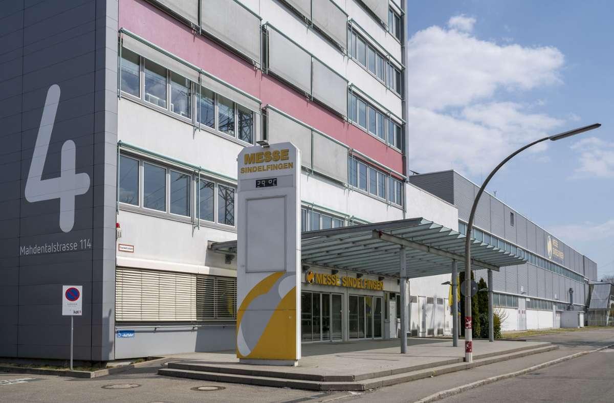 Wird zum Impfzentrum: die Sindelfingen Messe Foto: factum/Jürgen Bach