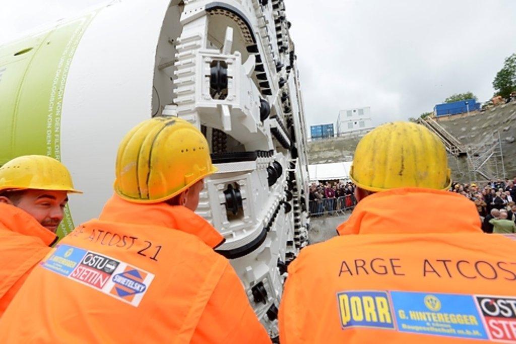 Eine Tunnelbohrmaschine besorgt in den kommenden fünf Jahren den größten Anteil der Arbeiten an den Röhren.  Foto: www.7aktuell.de | Oskar Eyb