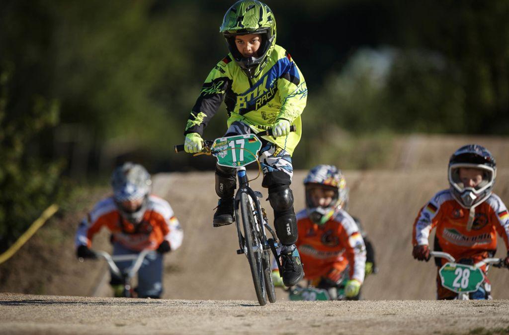Die jüngsten Farhrer bei den Freebikers sind gerade einmal fünf Jahre alt. Foto: Gottfried Stoppel