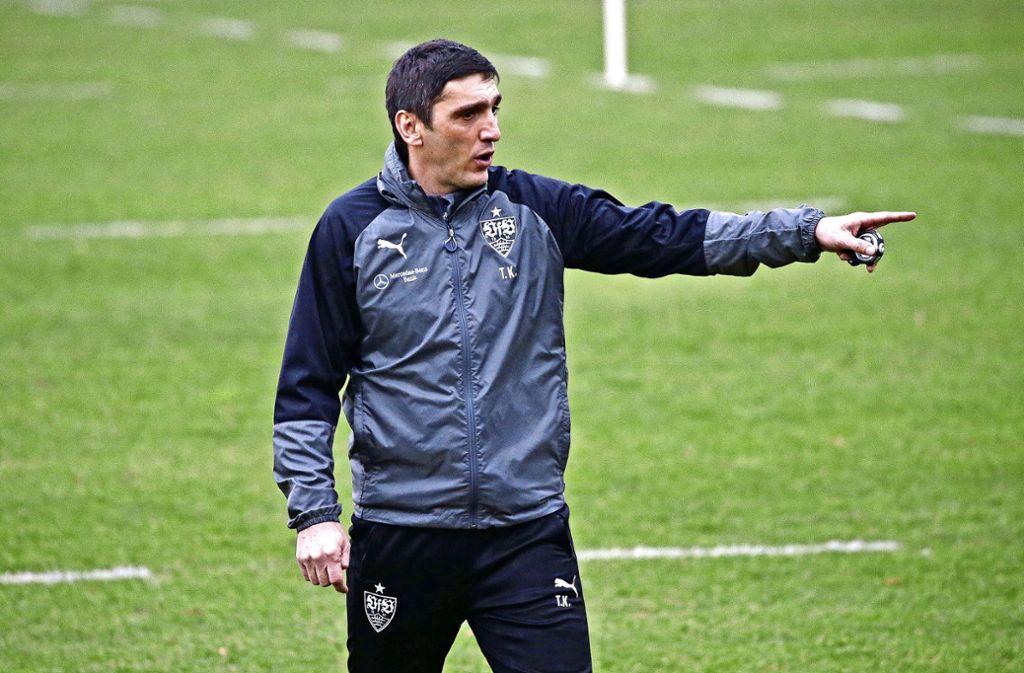 Erstes Training beim VfB Stuttgart: Tayfun Korkut Foto: Baumann