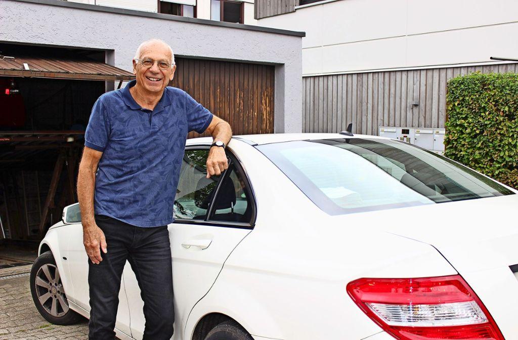 Sein neues Auto sollte besonders umweltfreundlich sein, sagt Eckhard Philipsen. Foto: Holowiecki