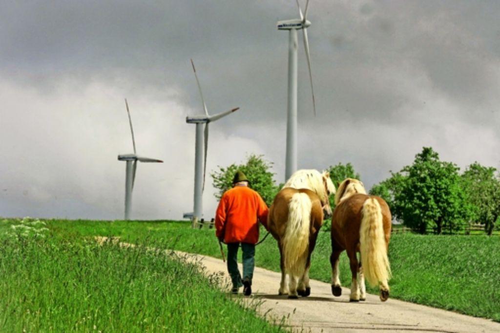 Nicht nur bei Geislingen-Stötten (unser Bild) werden sich im Stauferkreis in Zukunft die Windrotoren drehen. Foto: Rudel/Archiv