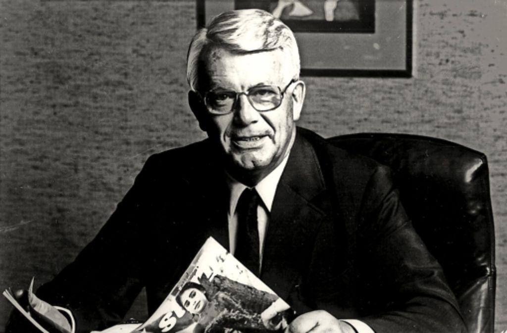 """Der  """"Stern""""-Chefredakteur  Henri Nannen im Jahr 1978 Foto: dpa"""