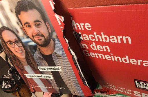 Gezielt Plakate von kurdischem SPD-Kandidaten zerstört