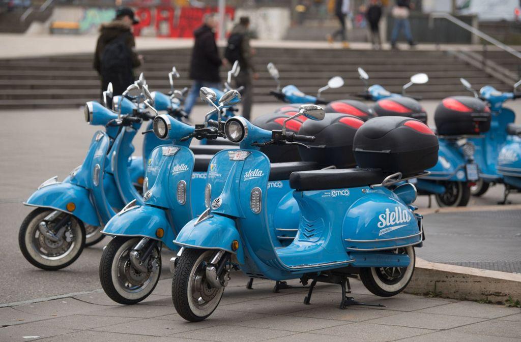 Auch in Stuttgart gibt es inzwischen viele Angebote für Sharing – zum Beispiel  für Roller oder Elektroautos. Foto: dpa