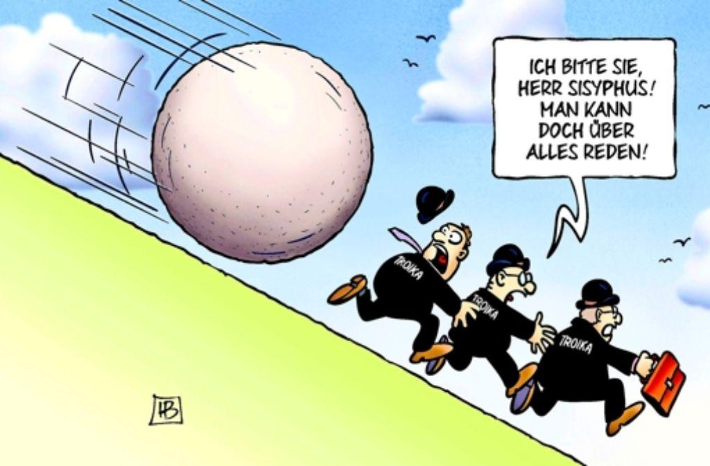 Auf der Flucht . . . Foto: harm/tooonpool.com