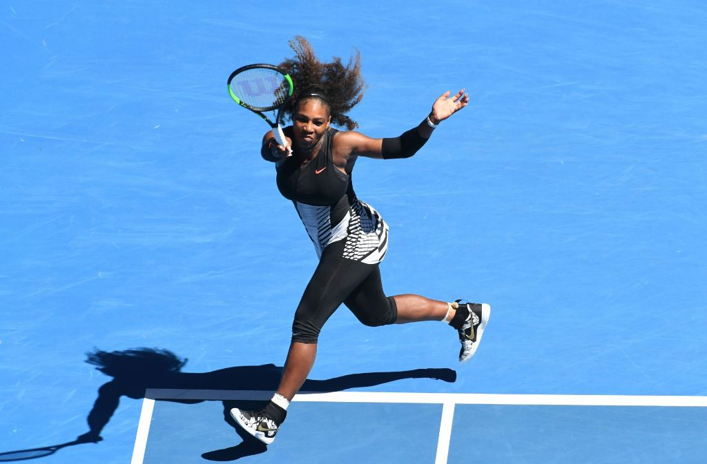 Serena Williams ist ganz souverän ins Achtelfinale der Australian Open eingezogen. Foto: AFP