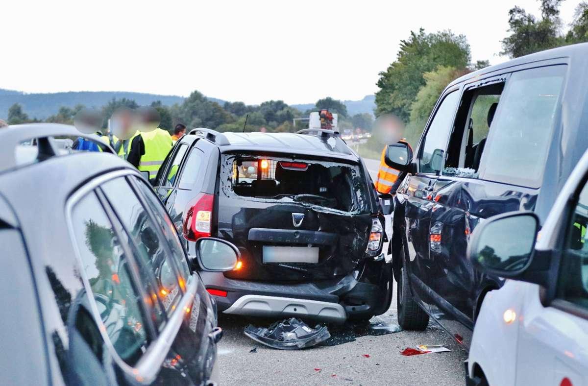 Bei Schorndorf ist es zu einem Unfall gekommen. Foto: 7aktuell.de/Kevin Lermer